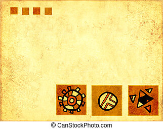 African traditional patterns - Grunge background - african...