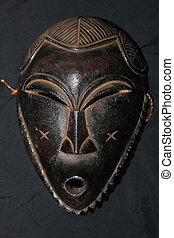 African Tribal Mask - Songe Tribe - African Tribal Wooden...