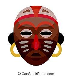 African tribal mask.African safari single icon in cartoon style vector symbol stock illustration web.