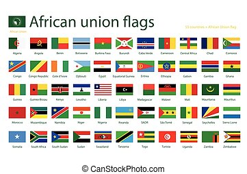 African union flags