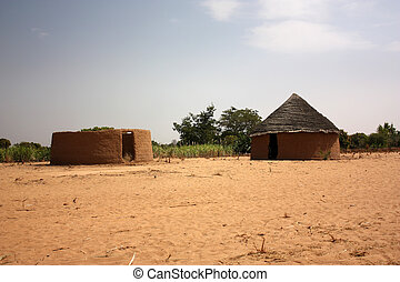 Nomadic Huts Or Tribal In The Indian Countryside
