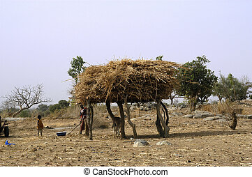 African village in Burkina Faso