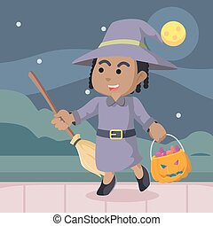 African witch in halloween
