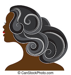 African Woman - An image of a beautiful african woman.
