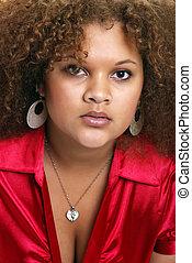 African woman closeup portrait
