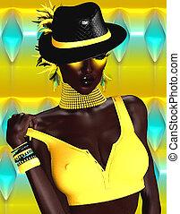 African Woman Fashion Model