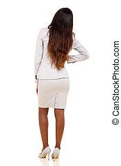 african woman having backache