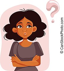 African Woman Having Questions Waiting for Answers - Young ...
