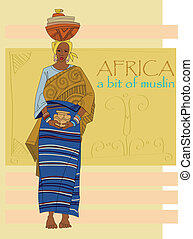 African woman in ethnic clothes