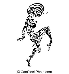 African woman in ethnic style.