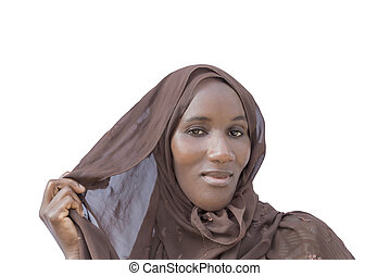 African woman, traditional headscarf
