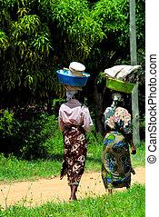 African women walking