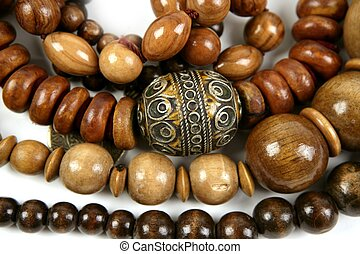 African wooden necklaces jewellery texture - African wooden ...