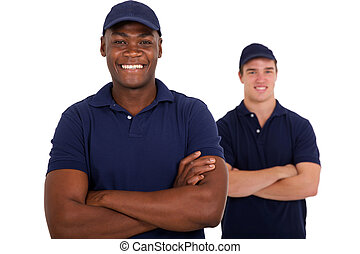 african worker and colleague