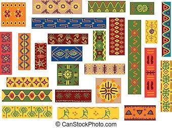 africano, étnico, ornamentos, y, nacional, patrones