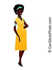 africano-americano, mulher grávida, escutar música