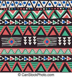 africano, arabescos, fundo, étnico