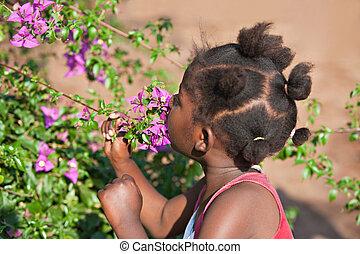 africano, bambino