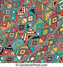 africano, estilo, icono