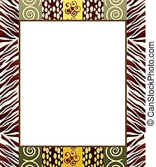africano, estilo, marco, 2