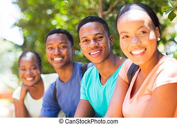 africano, estudantes, universidade