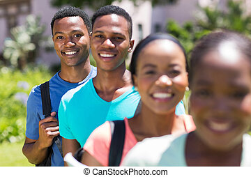 africano, estudiante, posición, consecutivo
