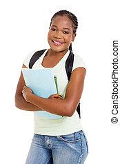 africano, estudiante universitario, retrato