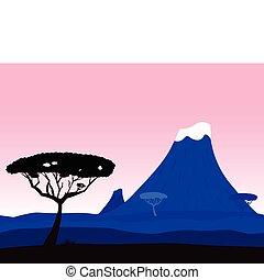 africano, exoticas, fundo