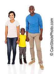 africano, familia , manos de valor en cartera