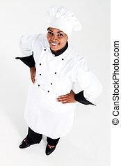 africano femmina, americano, chef