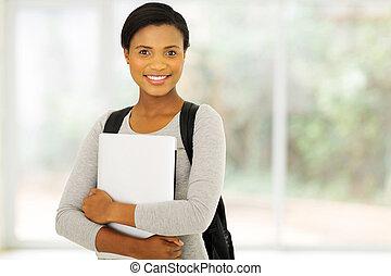 africano femmina, americano, studente università