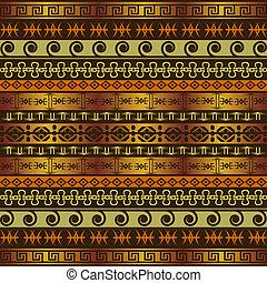 africano, fundo, ornamentos, étnico