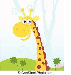 africano, girafa