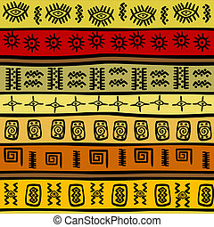 africano, hand-drown, étnico, patrón, tribal, plano de fondo