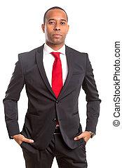 africano, homem negócio