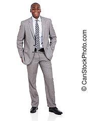 africano, homem negócios, jovem