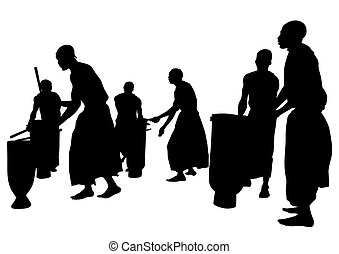 africano, músicos, cinco