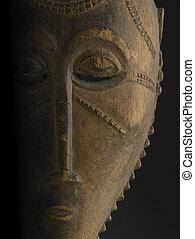 africano, maschera, da, il, costa avorio