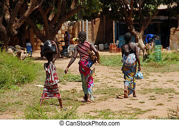 africano, mujeres