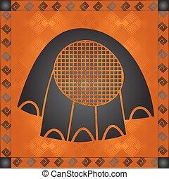 africano, nacional, cultural, símbolos