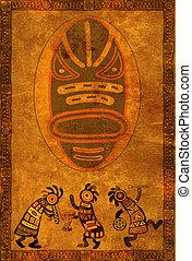 africano, nacional, patrones
