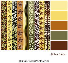 africano, paleta