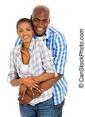 africano, pareja