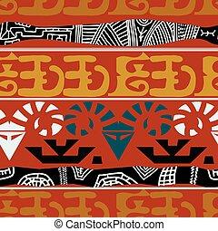 africano, pattern., vetorial, seamless