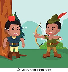 africano, robin hood, práctica