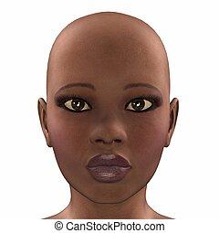 africano, rosto