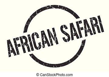 africano, safari, francobollo