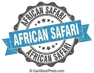 africano, safari, stamp., segno., sigillo