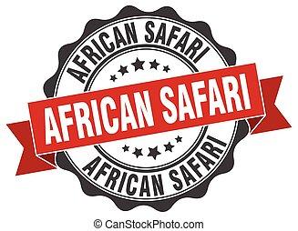 africano, safari, stamp., sinal., selo