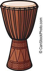 africano, tambor, (music, instrument)
